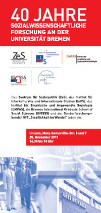 40th Anniversary of social science research at the University of Bremen