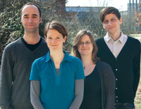 from left to right: Steffen Hagemann, Simone Scherger, Anna Hokema, Thomas Lux
