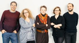 From left to right: Olaf Groh-Samberg, Theresa Büchler, Susan Westing-Kilian, Nora Waitkus, Nepomuk Hurch