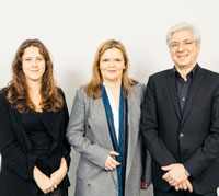 From left to right: Patricia Zauchner, Tanja Pritzlaff and Frank Nullmeier.