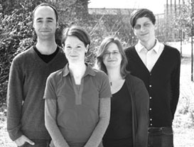 from left to right.: Steffen Hagemann, Simone Scherger, Anna Hokema, Thomas Lux