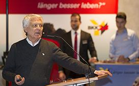 Gerd Glaeske bei der Pressekonferenz zur Frühjahrskur 2018