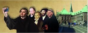 """Ausstellung """"Eingerollte Segel und volle Fahrt. Kirchen- und Staatsschiffe im Medienkrieg der Reformationszeit"""", Haus der Bürgerschaft"""