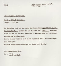 Aid granting decision of the VW (Volkswagen) Foundation from 17.08.1987